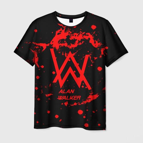 Мужская футболка 3D Alan Walker music space