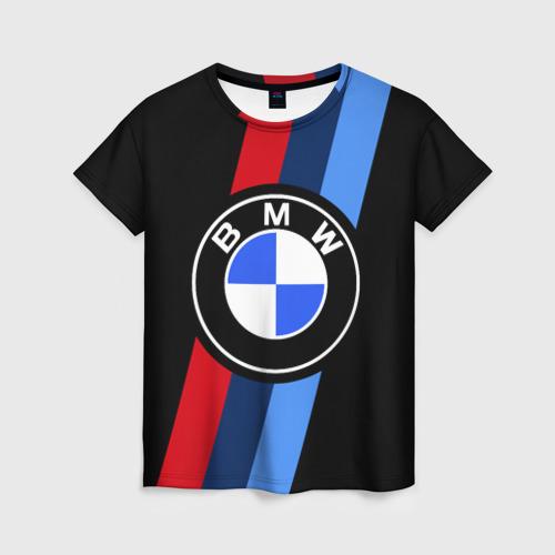 Женская футболка 3D BMW 2021 M SPORT / БМВ М СПОРТ