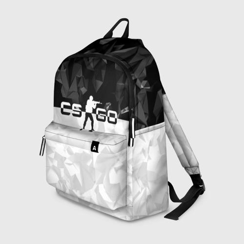 Рюкзак 3D CS GO BLACK WHITE GEOMETRY