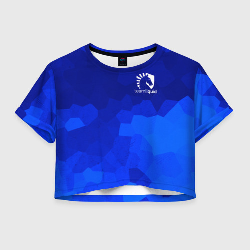 Женская футболка Crop-top 3D Team Liquid Cybersport