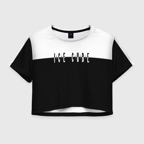 Женская футболка Crop-top 3D Ice Cube