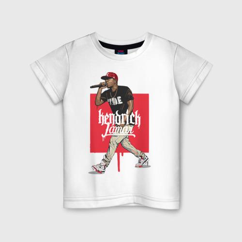 Детская футболка хлопок Кендрик Ламар