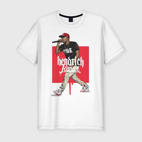 Мужская футболка хлопок Slim Кендрик Ламар