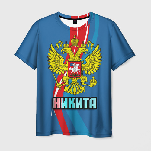 Мужская футболка 3D Герб Никита