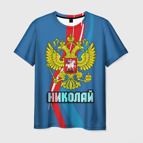 Мужская футболка 3D Герб Николай