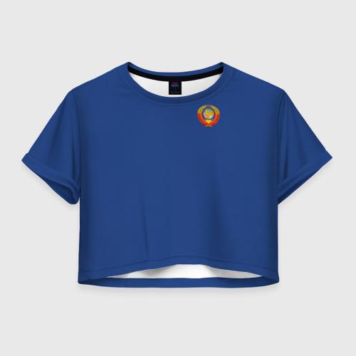 Женская футболка Crop-top 3D Олимпиада - 72