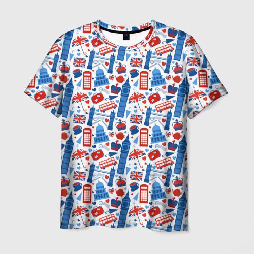 Мужская футболка 3D Люблю Лондон