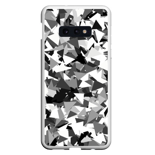 Чехол для Samsung S10E Городской серый камуфляж