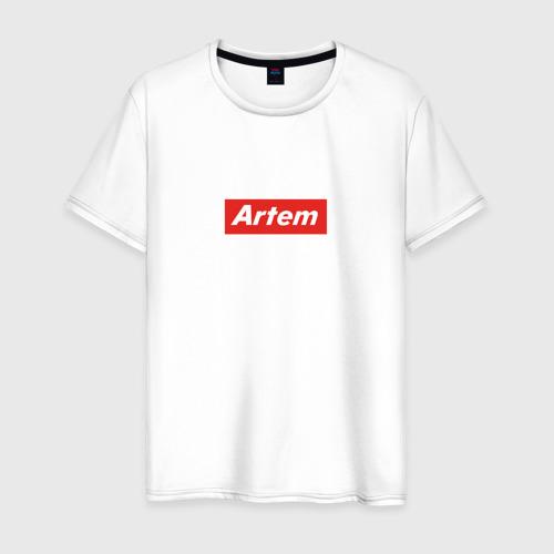Мужская футболка хлопок Артём/ Artem