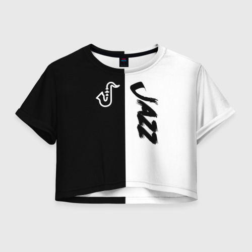 Женская футболка Crop-top 3D Jazz