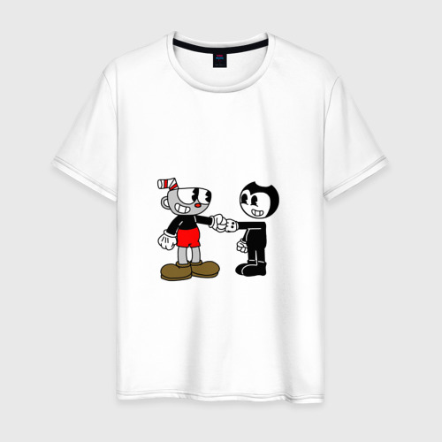 Мужская футболка хлопок Cuphead/Bendy