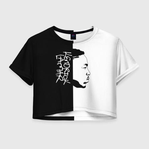 Женская футболка Crop-top 3D Kendrick Lamar