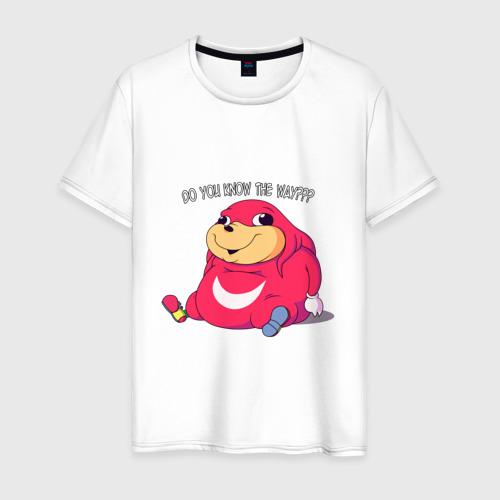 Мужская футболка хлопок Do you know the way???
