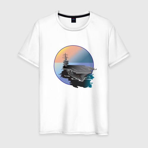 Мужская футболка хлопок Авианосец