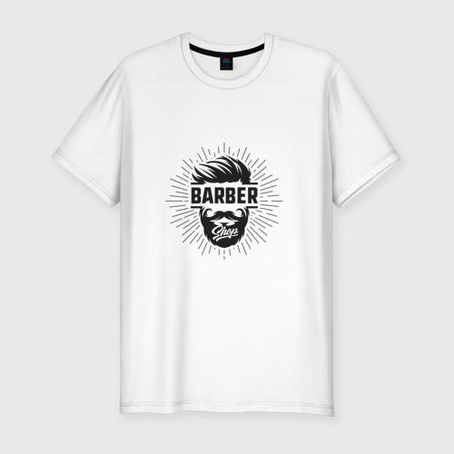 Мужская футболка хлопок Slim Barber Shop