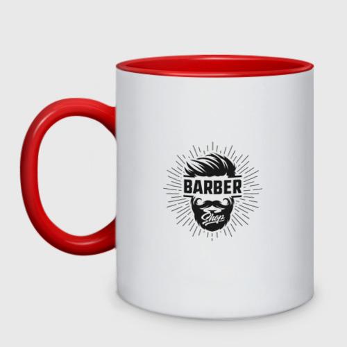 Кружка двухцветная Barber Shop