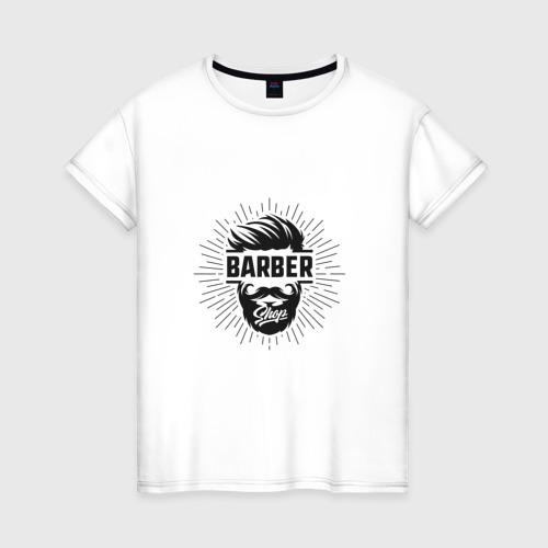 Женская футболка хлопок Barber Shop