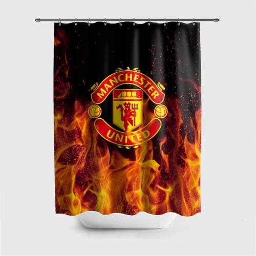 Штора 3D для ванной FC Manchester United
