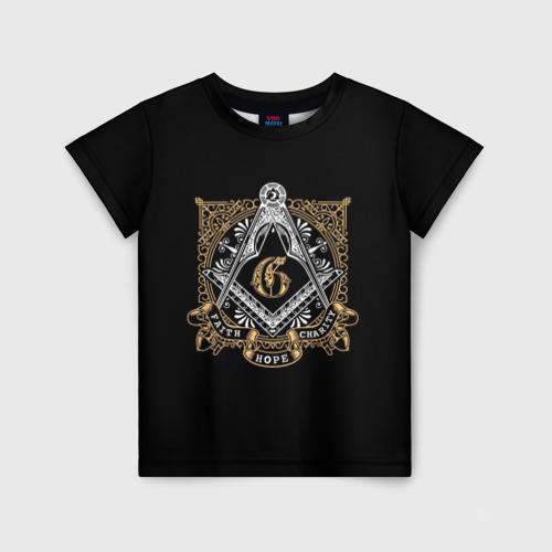 Детская футболка 3D Faith hope charity