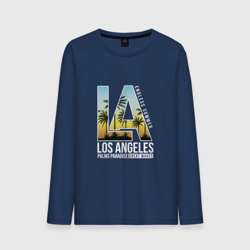 Мужской лонгслив хлопок Лос Анджелес