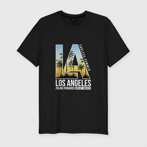 Мужская футболка хлопок Slim Лос Анджелес