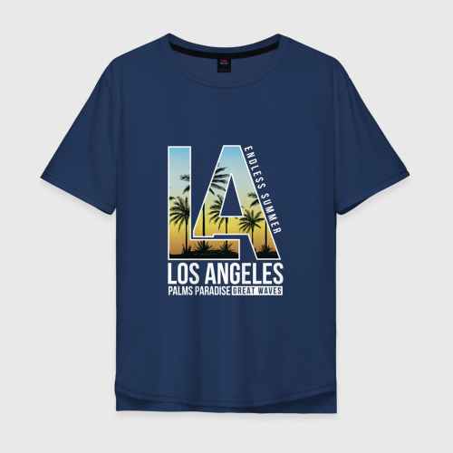 Мужская футболка хлопок Oversize Лос Анджелес