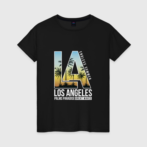 Женская футболка хлопок Лос Анджелес