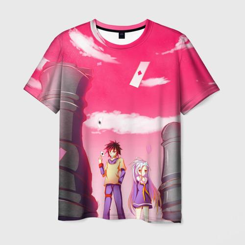 Мужская футболка 3D Шахматы аниме