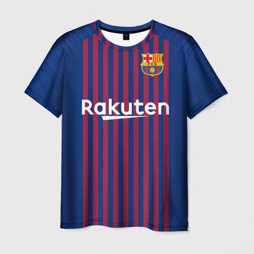 Мужская футболка 3D Barcelona home 18-19