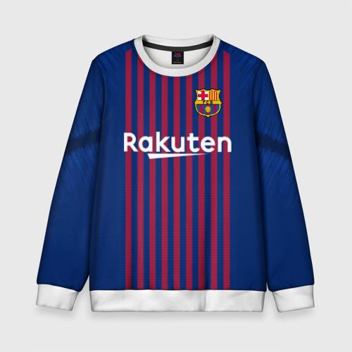 Детский свитшот 3D Messi home 18-19
