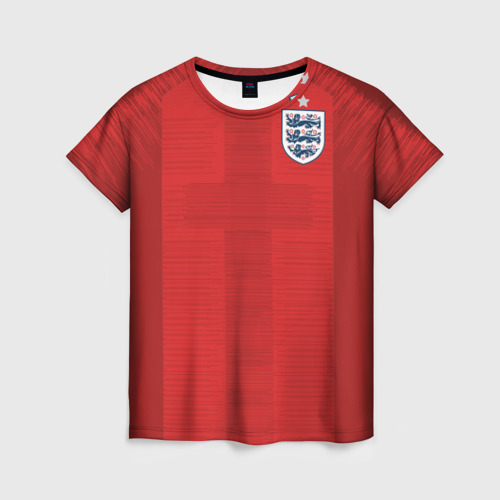 Женская футболка 3D England away WC 2018