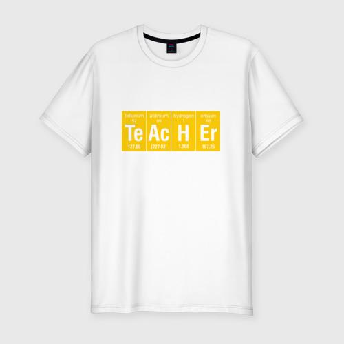 Мужская футболка хлопок Slim Учитель