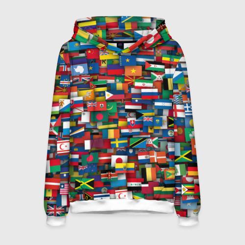 Мужская толстовка 3D Флаги всех стран