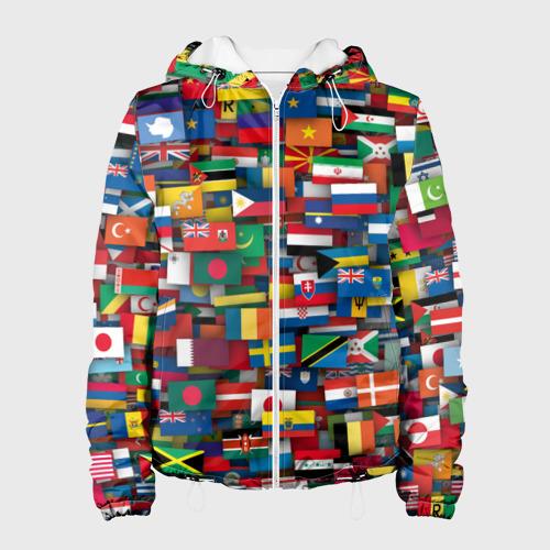 Женская куртка 3D Флаги всех стран