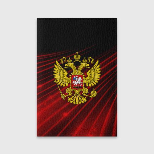 Обложка для паспорта матовая кожа Russia abstract collection RED