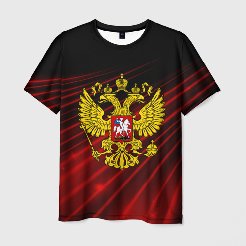 Мужская футболка 3D Russia abstract collection RED