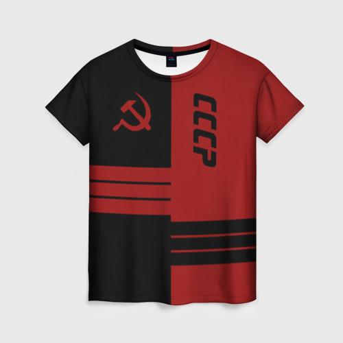 Женская футболка 3D СССР