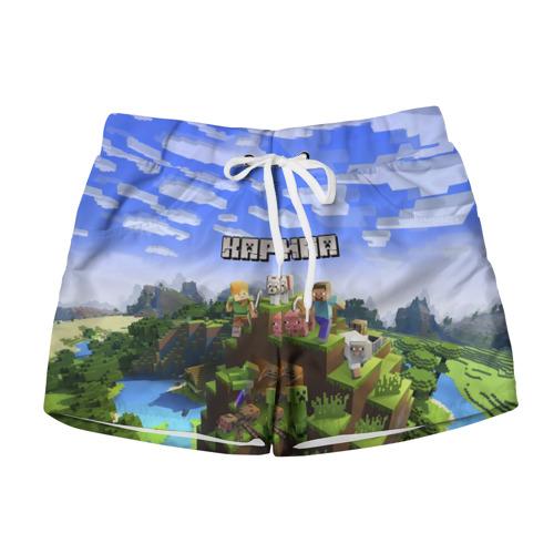 Женские шорты 3D Карина - Minecraft