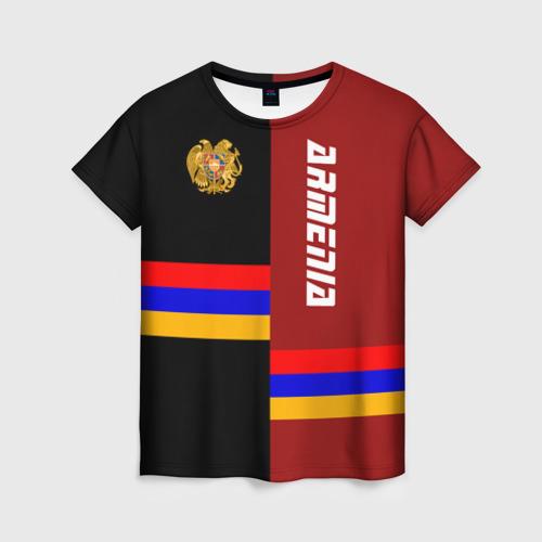 Женская футболка 3D ARMENIA (Армения)