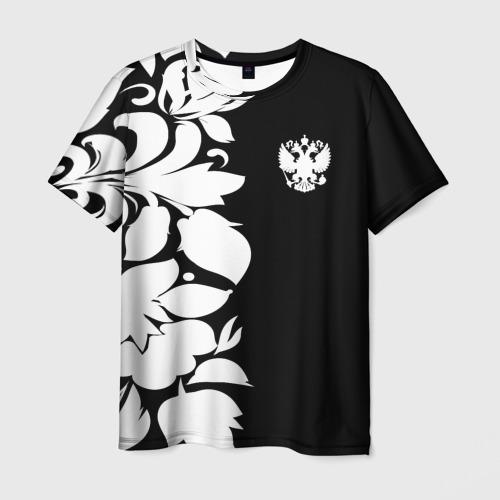 Мужская футболка 3D Russia Black&White Style