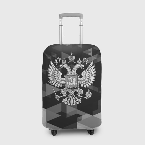 Чехол для чемодана 3D Russia Black&White Abstract
