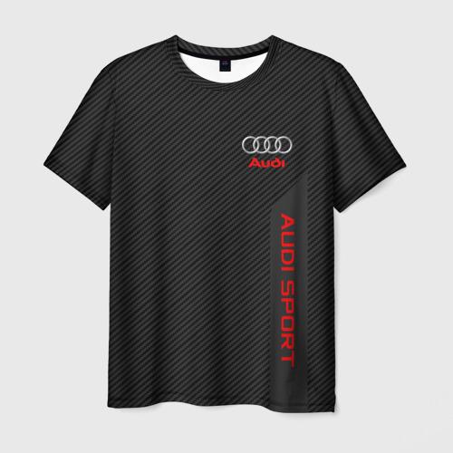 Мужская футболка 3D AUDI | АУДИ
