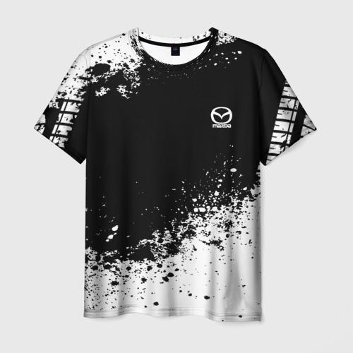 Мужская футболка 3D Mazda brand motors