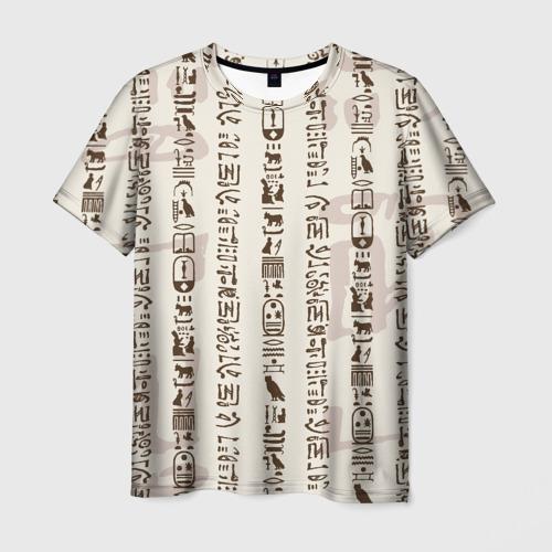 Мужская футболка 3D Иероглифы