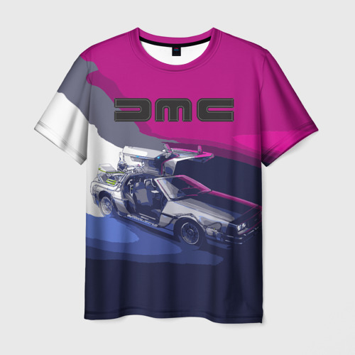 Мужская футболка 3D DeLorean