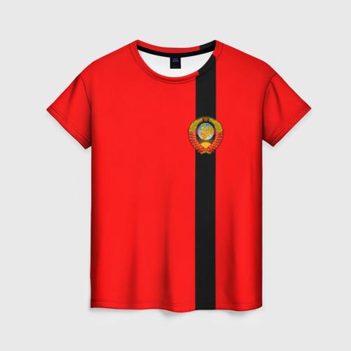 Женская футболка 3D С гербом СССР