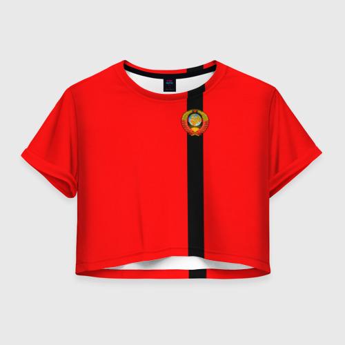 Женская футболка Crop-top 3D С гербом СССР