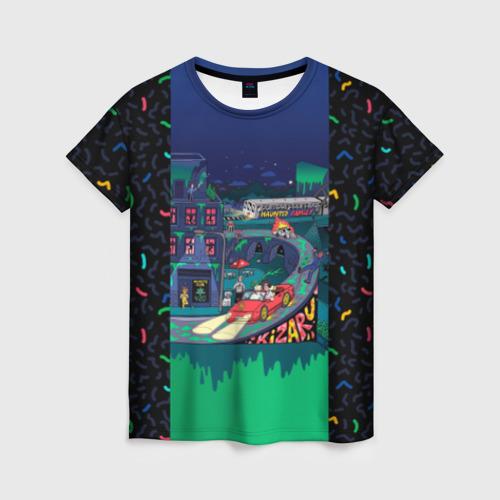 Женская футболка 3D Kizaru Яд