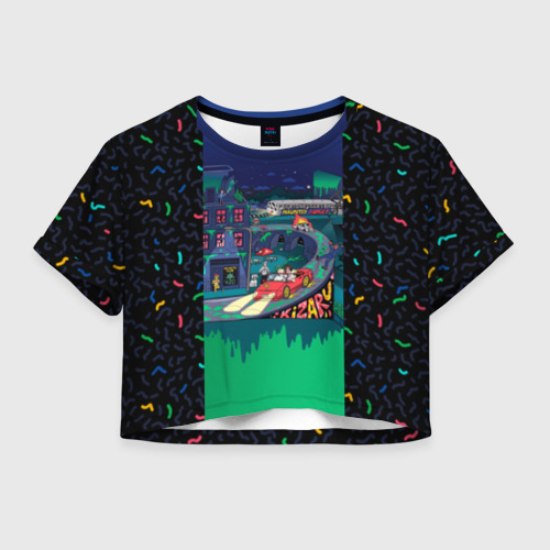 Женская футболка Crop-top 3D Kizaru Яд