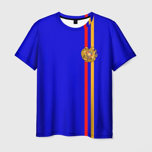 Мужская футболка 3D Армения, лента с гербом